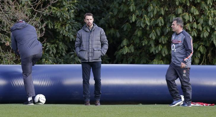 Britain Rugby Union - England Training - Pennyhill Park, Bagshot, Surrey - 7/2/17 England football manager Gareth Southgate during training Action Images via Reuters / Henry Browne/ Livepic/ Files