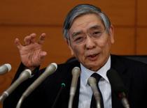 Presidente do banco central do Japão, Haruhiko Kuroda.    31/01/2017       REUTERS/Toru Hanai