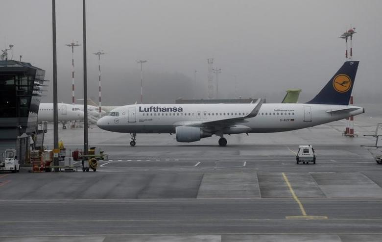 A Lufthansa aircraft moves on the tarmac of Riga International Airport in Riga, Latvia, December 21, 2016. REUTERS/Ints Kalnins/Files