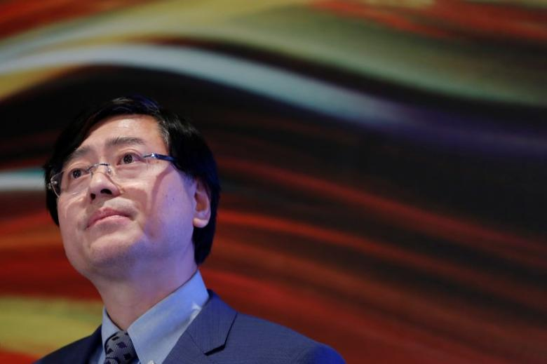 Lenovo Chairman and CEO Yang Yuanqing attends a news conference on the company's annual results in Hong Kong May 26, 2016.   REUTERS/Bobby Yip