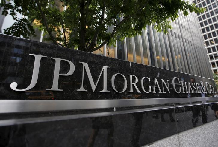 FILE PHOTO - A view of the exterior of the JPMorgan Chase & Co. corporate headquarters in New York City, U.S. on May 20, 2015.  REUTERS/Mike Segar/File Photo