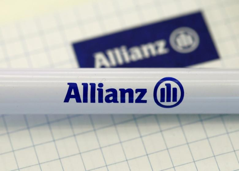 The company logo of German insurer Allianz SE is pictured before an annual news conference in Munich, Germany, February 19, 2016. REUTERS/Michaela Rehle/File Photo