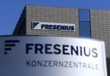 Le groupe de santé allemand Fresenius a annoncé mercredi de nouveaux objectifs à l'horizon 2020, disant viser une progression annuelle supérieure à 10% pour son chiffre d'affaires comme pour son bénéfice net. /Photo d'archives/REUTERS/Ralph Orlowski