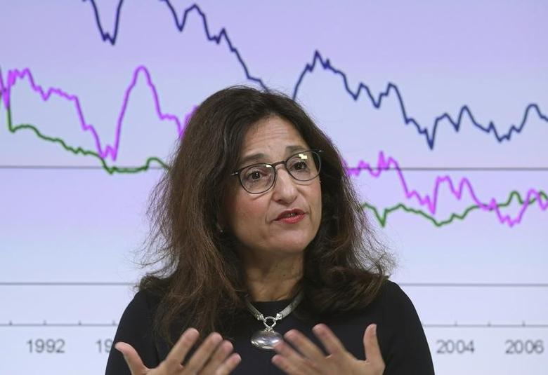 Bank of England Deputy Governor Minouche Shafik delivers a speech at a financial markets event in the City of London, in London, Britain September 28, 2016. REUTERS/Toby Melville