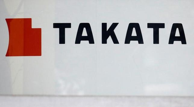 2月23日、タカタは、米国とドイツの連結子会社3社を米国のトランスディグム社(オハイオ州)に9000万ドル(約99億円)で売却すると発表した。写真は都内の同社ショールームで9日撮影(2017年 ロイター/Toru Hanai)