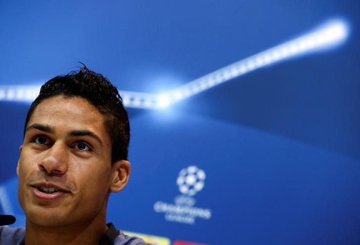 Football Soccer - Real Madrid news conference - UEFA Champions League - Valdebebas training grounds - Madrid, Spain, 17/10/16 Real Madrid's Raphael Varane attends news conference REUTERS/Sergio Perez/Files