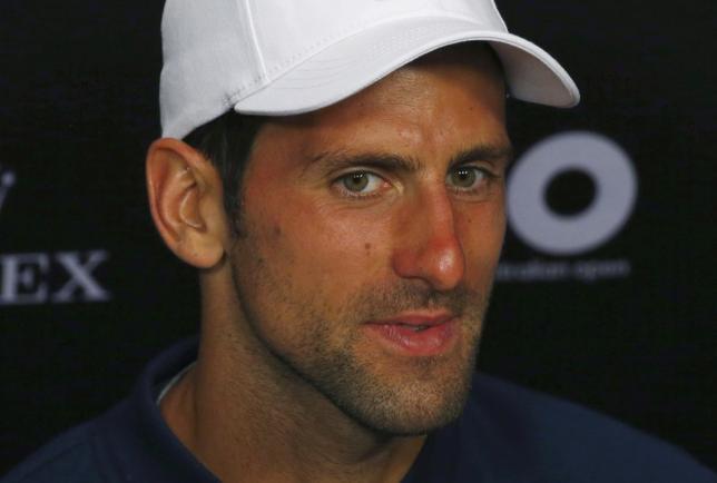 2月24日、男子テニスの世界ランク2位、ノバク・ジョコビッチは、メキシコ・オープン(アカプルコで27日開幕)で実戦復帰すると明かした。メルボルンで1月撮影(2017年 ロイター/Issei Kato)