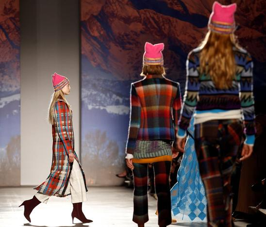 A model presents a creation from the Missoni Autumn Winter 2017 women s  collection during Milan s 89485a8d7ce7
