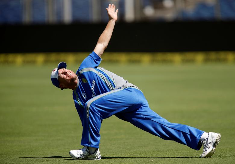 Cricket - India v Australia - Australia team practice session - Maharashtra Cricket Association Stadium, Pune, India - 22/02/17. Australia's David Warner attends a practice session. REUTERS/Danish Siddiqui