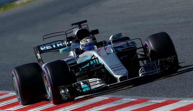 Formula One - F1 - Test session - Barcelona-Catalunya racetrack in Montmelo, Spain - 1/3/17. Valtteri Bottas of Mercedes in action. REUTERS/Albert Gea -