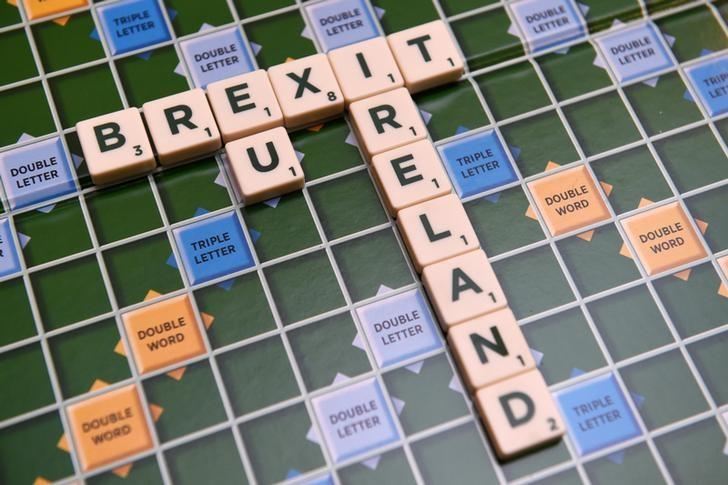 FILE PHOTO: A scrabble board spells out Brexit in Dublin, Ireland May 4 2016. REUTERS/Clodagh Kilcoyne/File Photo