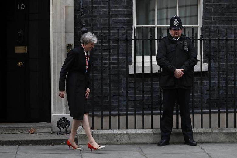 Britain's Prime Minister Theresa May  at Number 10 Downing Street in London, Britain, February 23, 2017.   REUTERS/Stefan Wermuth