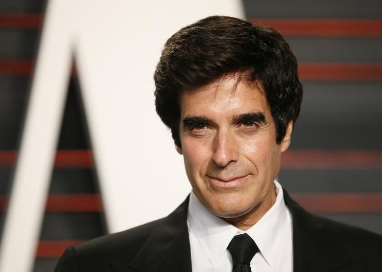 Magician David Copperfield arrives at the Vanity Fair Oscar Party in Beverly Hills, California February 28, 2016.  REUTERS/Danny Moloshok