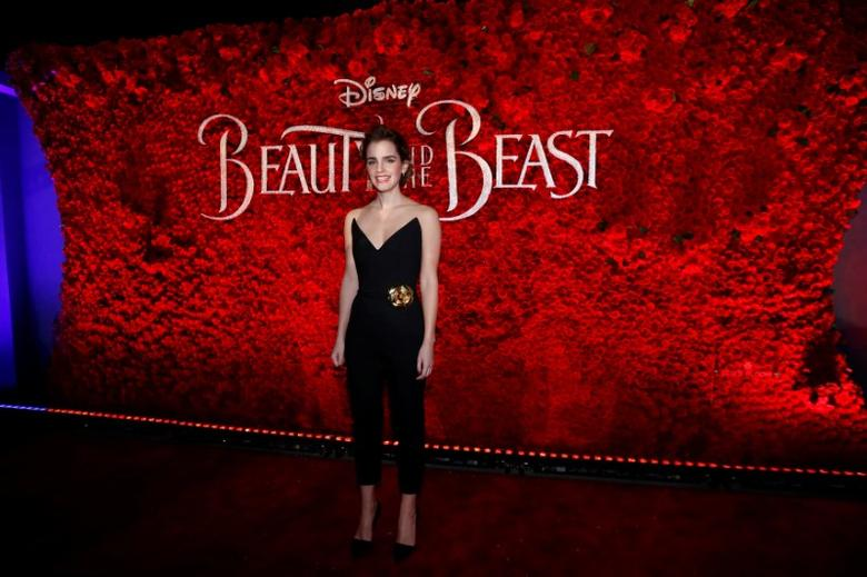 Cast member Emma Watson poses at the premiere of ''Beauty and the Beast'' in Los Angeles, California, U.S. March 2, 2017.   REUTERS/Mario Anzuoni