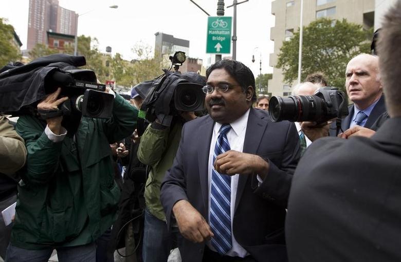 Galleon hedge fund founder Raj Rajaratnam departs Manhattan Federal Court after his sentencing in New York October 13, 2011. REUTERS/Lucas Jackson