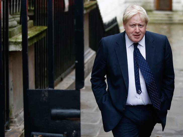 FILE PHOTO - Britain's Foreign Secretary Boris Johnson arrives in Downing Street for a cabinet meeting, in London, November 15, 2016. REUTERS/Peter Nicholls/File Photo