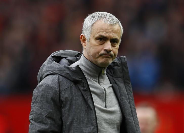 Britain Soccer Football - Manchester United v AFC Bournemouth - Premier League - Old Trafford - 4/3/17 Manchester United manager Jose Mourinho looks dejected after the game  Action Images via Reuters / Jason Cairnduff Livepic