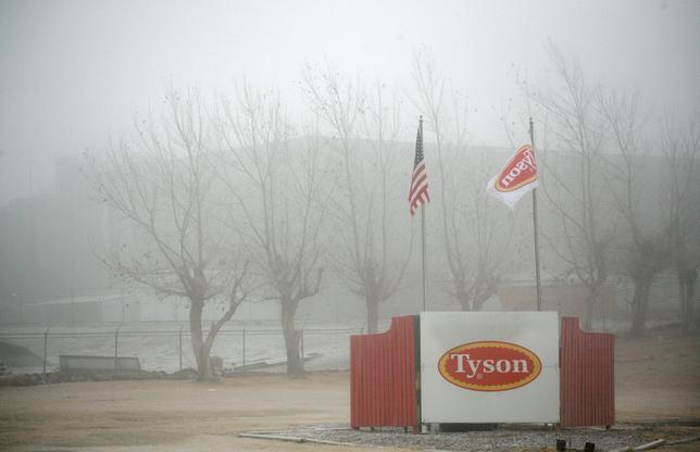 FILE PHOTO -  Fog shrouds the Tyson slaughterhouse in Burbank, Washington December 26, 2013.  REUTERS/Ross Courtney/File Photo