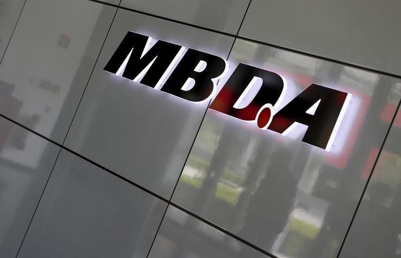 European Defense Group MBDA's company logo is pictured in Schrobenhausen near Ingolstadt, Germany, June 25, 2015. REUTERS/Michaela Rehle/Files