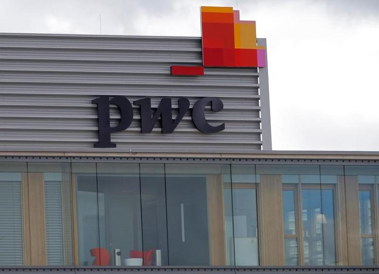 The logo of PricewaterhouseCoopers is seen on the local offices building of the company in Luxembourg, April 26, 2016. REUTERS/Vincent Kessler