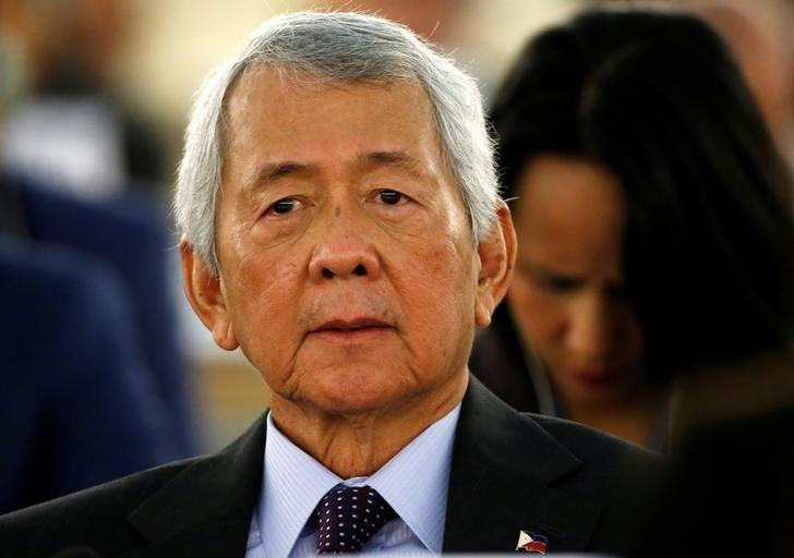 Philippine's Foreign Minister Perfecto Yasay attends the 34th session of the Human Rights Council at the European headquarters of the United Nations in Geneva, Switzerland, February 27, 2017. REUTERS/Denis Balibouse/Files