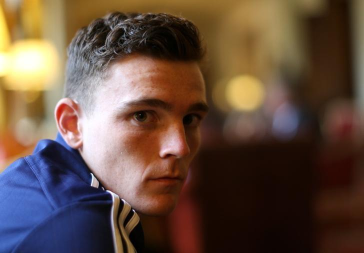 Football - Scotland Press Conference - Mar Hall Hotel & Spa, Bishopton, Scotland - 5/10/15Scotland's Andy Robertson posesAction Images via Reuters / Russell CheyneLivepic/File Photo