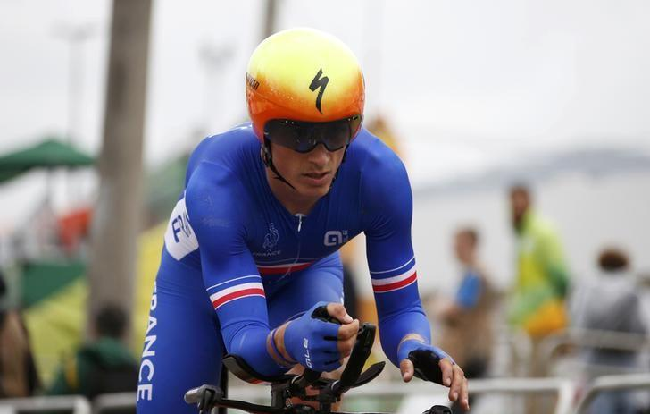 FILE PHOTO - 2016 Rio Olympics - Cycling Road - Final - Men's Individual Time Trial - Pontal - Rio de Janeiro, Brazil - 10/08/2016. Julian Alaphilippe (FRA) of France competes. REUTERS/Eric Gaillard