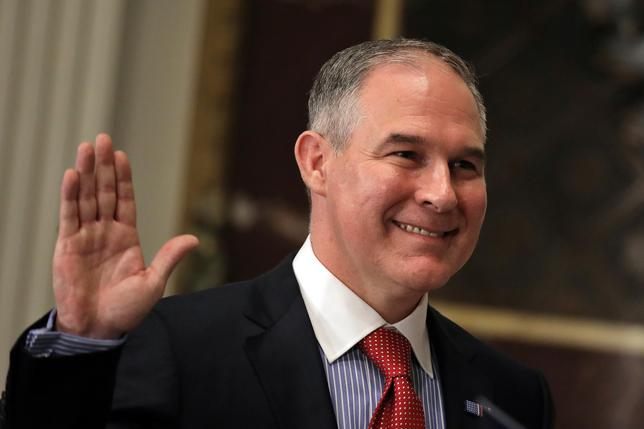 The Senate confirmed Scott Pruitt to run the Environmental Protection Agency over the objections of Democrats and environmentalists worried he will gut the agency, as the administration readies executive orders to ease regulation on drillers and miners.REUTERS/Carlos Barria