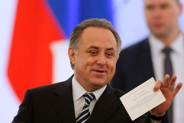 Russian Deputy Prime Minister Vitaly Mutko waits before an annual state of the nation address attended by Russian President Vladimir Putin at the Kremlin in Moscow, Russia, December 1, 2016. REUTERS/Maxim Shemetov/File Photo