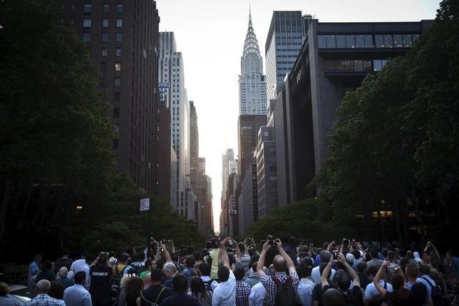 3月10日、米旅行業界は観光客減に直面する1年となりそうだ。写真はニューヨークで2015年5月撮影(2017年 ロイター/Carlo Allegri)