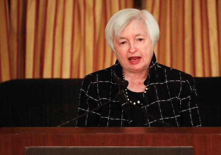 Federal Reserve Chair Janet Yellen addresses the Executives Club of Chicago in Chicago, Illinois, U.S., March 3, 2017. REUTERS/Kamil Krzaczynski