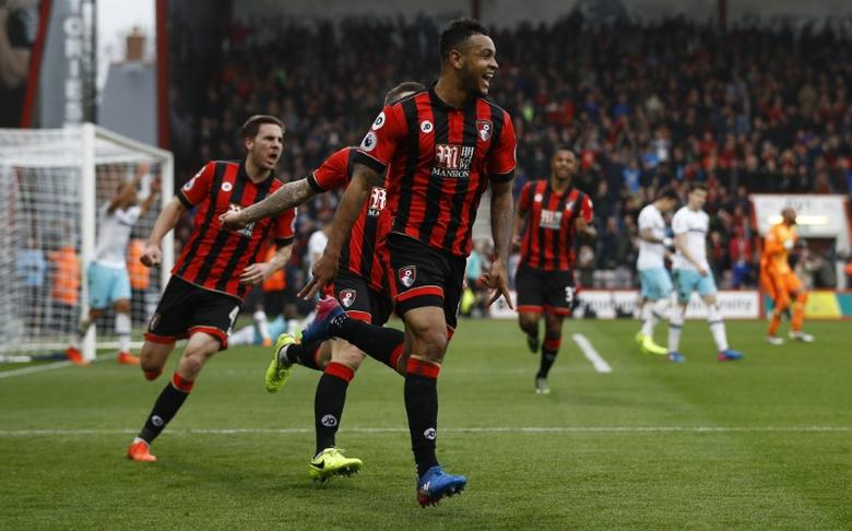 AFC Bournemouth v West Ham United - Premier League - Vitality Stadium - 11/3/17 Bournemouth's Joshua King celebrates scoring their third goal to complete his hat trick  Reuters / Peter Nicholls Livepic