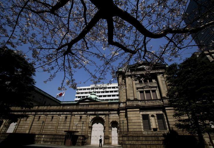 图为2016年3月资料图片,显示日本央行总部。REUTERS/Yuya Shino