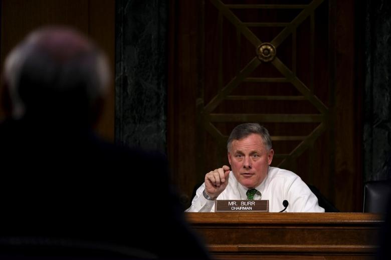 Committee Chairman U.S. Senator Richard Burr (R-NC) questions former U.S. Senator Dan Coats (R-IN) as he testifies before the Senate Select Committee on Intelligence on his nomination to be Director of National Intelligence in Washington February 28, 2017. REUTERS/James Lawler Duggan