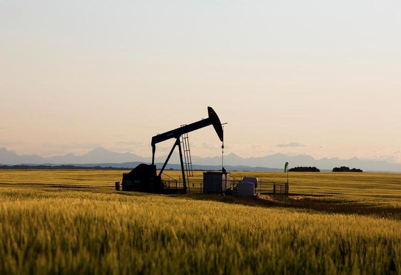 2014年7月,加拿大卡尔加里附近油田的抽油机。 REUTERS/Todd Korol