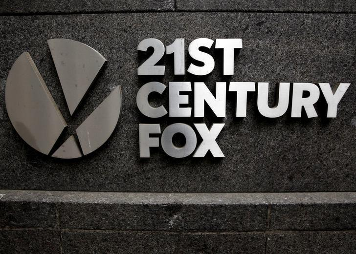 FILE PHOTO -  The 21st Century Fox  logo is seen outside the News Corporation headquarters in Manhattan, New York, U.S., April 29, 2016.  REUTERS/Brendan McDermid/File Photo