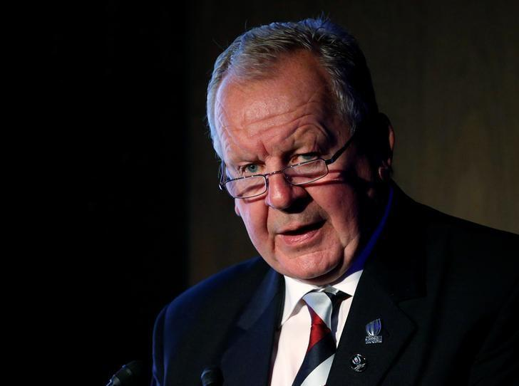 World Rugby Chairman Bill Beaumont delivers his keynote address at World Forum on Sport and Culture in Tokyo, Japan, October 20, 2016.   REUTERS/Toru Hanai