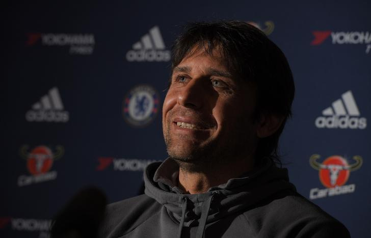 Britain Football Soccer - Chelsea - Antonio Conte Press Conference - Stamford Bridge - 17/3/17 Chelsea manager Antonio Conte during the press conference  Action Images via Reuters / Tony O'Brien Livepic EDITORIAL USE ONLY.
