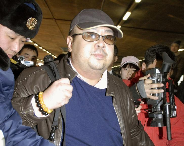 Kim Jong Nam arrives at Beijing airport in Beijing, China, in this photo taken by Kyodo February 11, 2007. Mandatory credit Kyodo/via REUTERS /Files