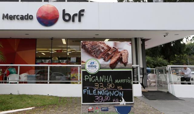 A Brazilian meatpacking company BRF SA marketplace is seen in Sao Paulo, Brazil March 17, 2017. REUTERS/Paulo Whitaker