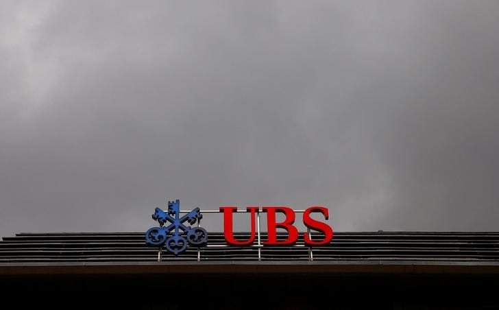 FILE PHOTO: The logo of Swiss bank UBS is seen on a branch office in Zurich, Switzerland November 8, 2016.    REUTERS/Arnd Wiegmann/File Photo