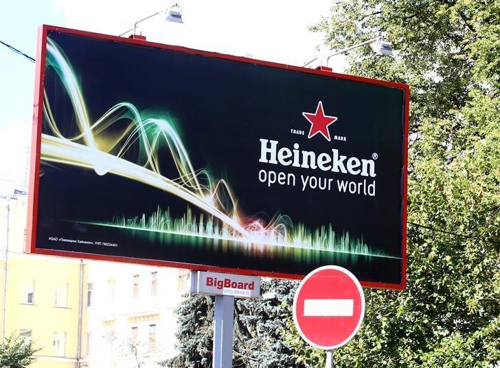 The Heineken logo is seen in Minsk, Belarus, September 6, 2016. REUTERS/Vasily Fedosenko