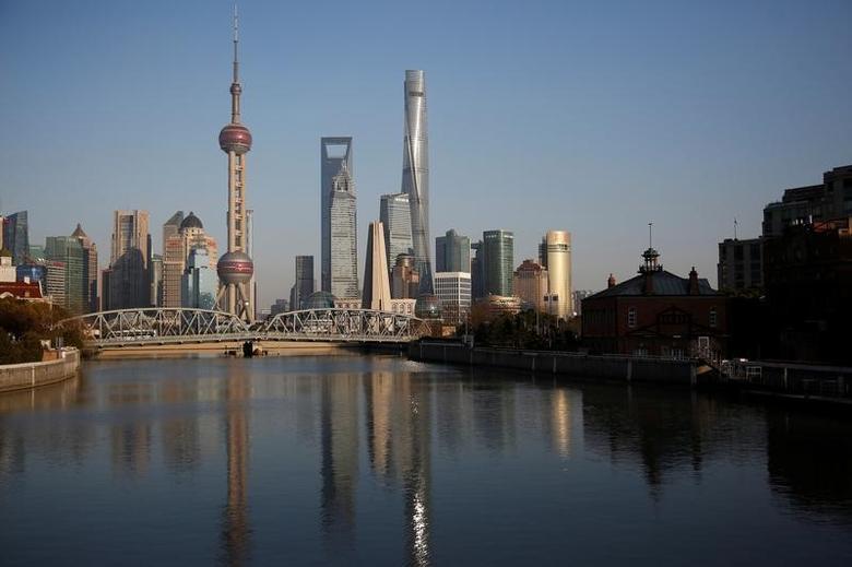3月14日,上海浦东金融区全景图。REUTERS/Aly Song