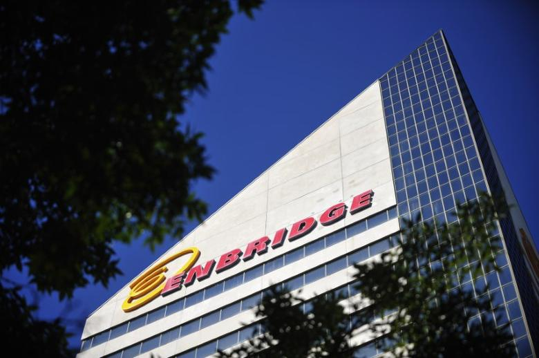 The Enbridge Tower is pictured on Jasper Avenue in Edmonton, Alberta, Canada on August 4, 2012.  REUTERS/Dan Riedlhuber/File Photo