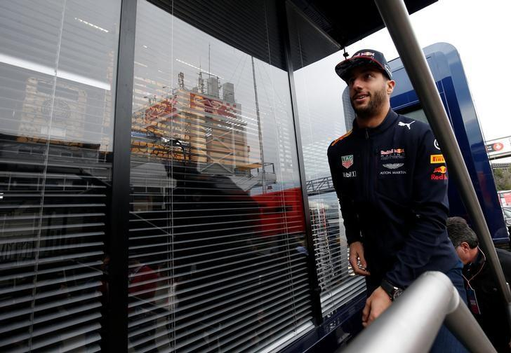 Formula One - F1 - Test session - Barcelona-Catalunya racetrack in Montmelo, Spain - 28/02/17. Red Bull's Daniel Ricciardo goes to a motorhome in the paddock. REUTERS/Albert Gea/Files