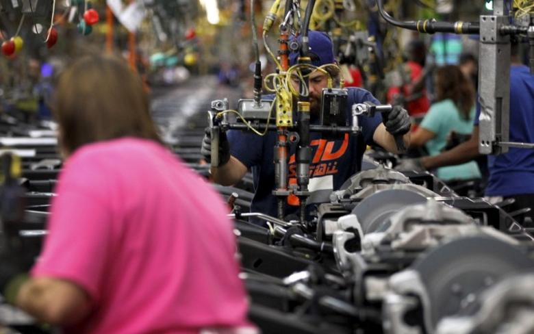 Workers at an assembly plant in Arlington, Texas, in a file photo.    REUTERS/Mike Stone