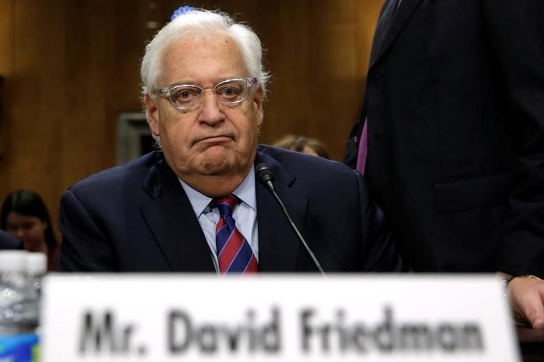 David Friedman testifies before a Senate Foreign Relations Committee hearing on his nomination to be U.S. ambassador to Israel, on Capitol Hill in Washington, U.S., February 16, 2017. REUTERS/Yuri Gripas