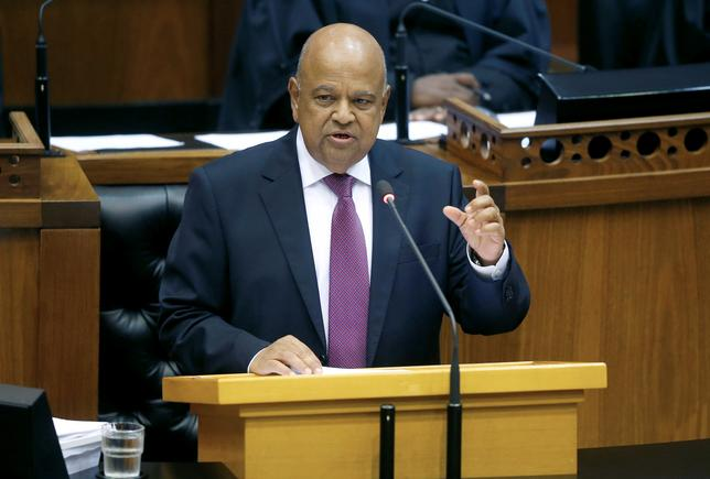 FILE PHOTO: Finance Minister Pravin Gordhan delivers his 2017 Budget Speech to Parliament in Cape Town, South Africa, February 22, 2017. REUTERS/Mike Hutchings/File Photo