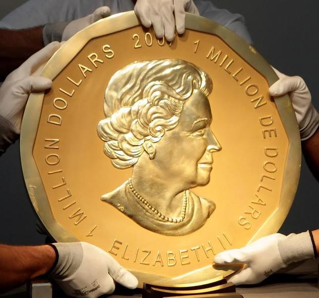 3月27日、ドイツのベルリンにあるボーデ博物館で未明、エリザベス英女王の肖像が刻まれた推定価値4億円超、重さ100キロのカナダの金貨が盗まれた。写真は2010年6月撮影(2017年 ロイター/Heinz-Peter Bader)
