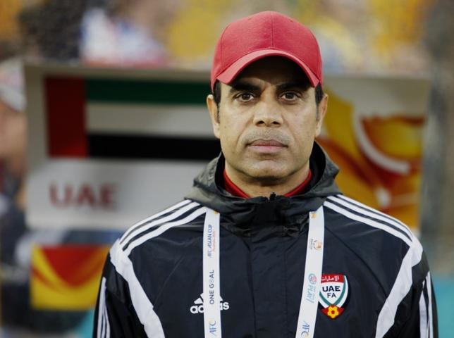 3月28日、サッカーの2018年ワールドカップ(W杯)ロシア大会アジア最終予選で日本と同じB組、UAEのマハディ・アリ監督(51)が28日に辞任した。2015年1月撮影(2017年 ロイター/Edgar Su)